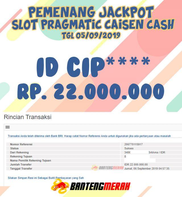 Pemenang Jackpot Bantengmerah Tgl 06 September 2019