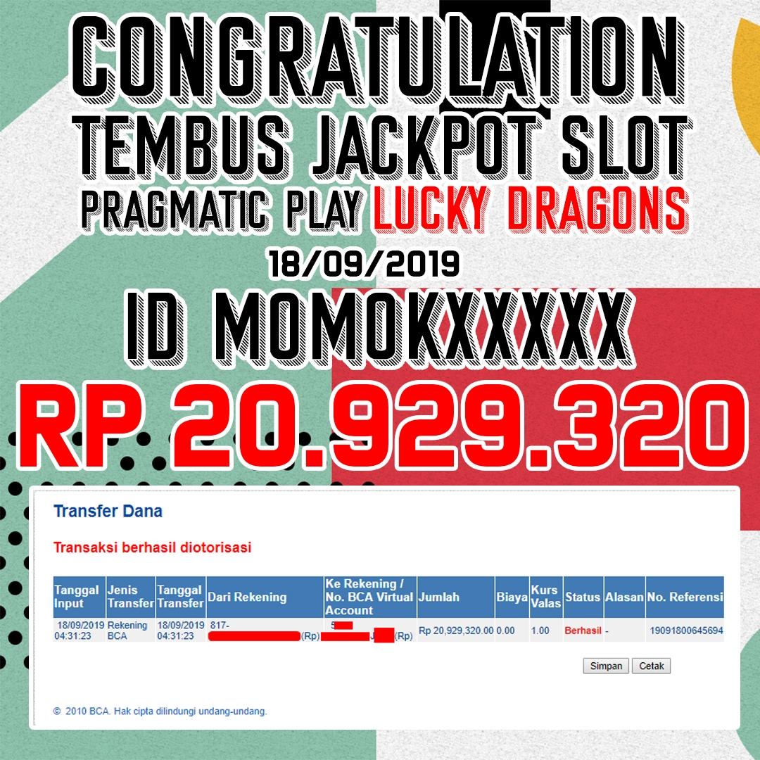 pemenang jackpot slot bm88