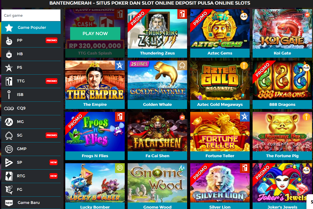 Macam Permainan Online Slot Terbaik
