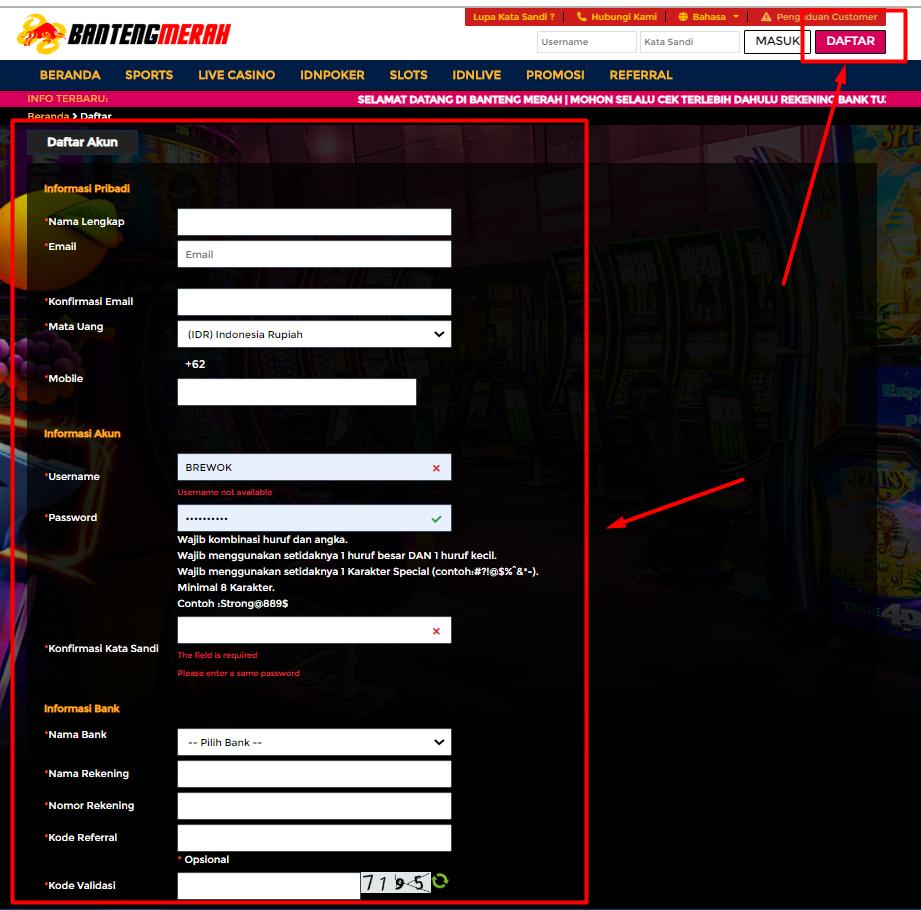 Pendaftaran judi slot online indonesia