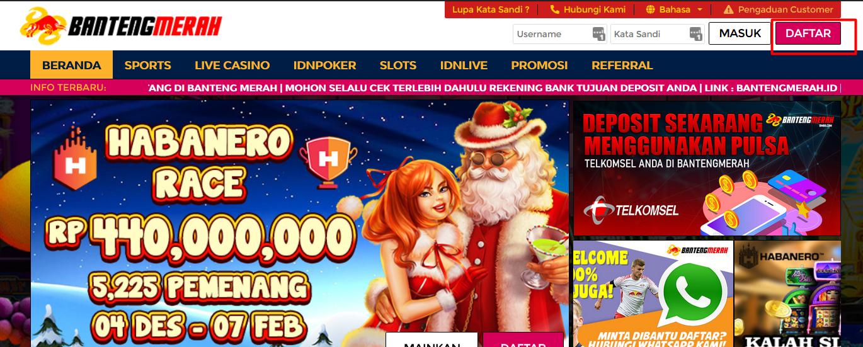 Langkah 1 daftar di situs poker online