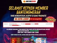 Pemenang Jackpot Pragamtic Play Slot Bantengmerah