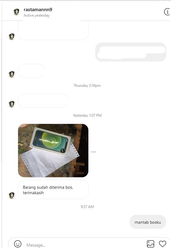 bukti chat testimoni iphone 12