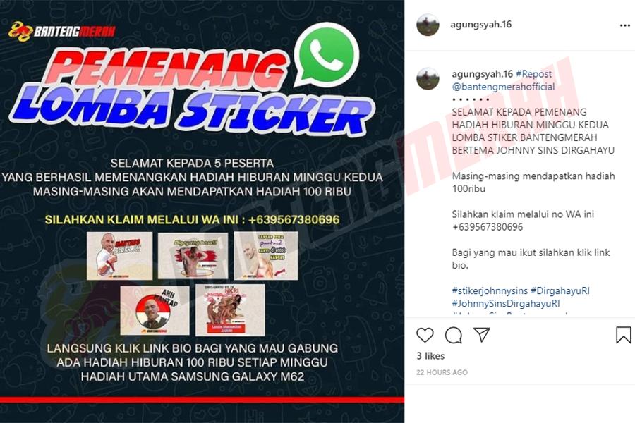 Pemenang - 1 Stiker Whatsapp HUT RI Bantengmerah