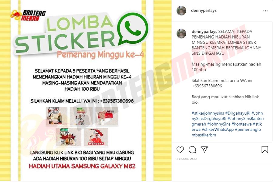 Pemenang - 4 Stiker Whatsapp HUT RI Bantengmerah