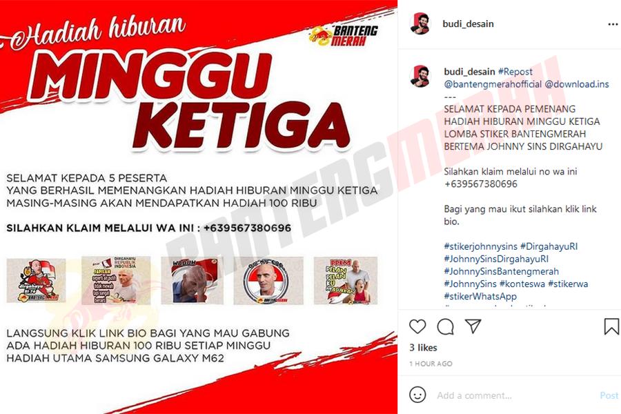 Pemenang - 5 Stiker Whatsapp HUT RI Bantengmerah