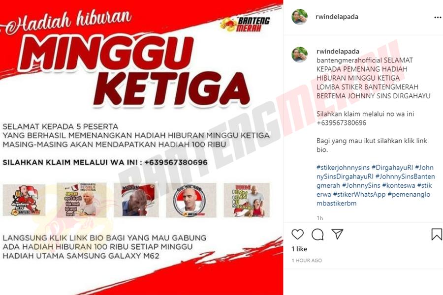 Pemenang - 6 Stiker Whatsapp HUT RI Bantengmerah