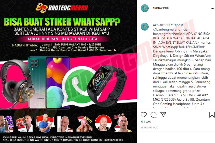 Pemenang - 7 Stiker Whatsapp HUT RI Bantengmerah