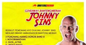 Para Pemenang Event Dukung Jhonny Sins jadi Brand Ambassador Bantengmerah